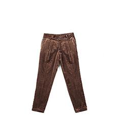 Sea Island Pleats Pants Brown