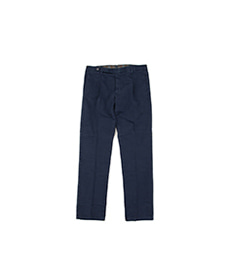 New Classic One Pleats Stretch Cotton Navy