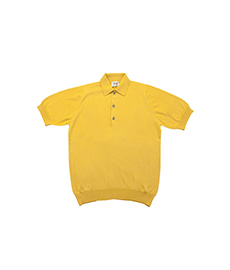 Cotton Pullover Sportshirt S/S Yellow Green