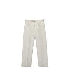 Bac J Double Pleats Beige Cotton/Linen