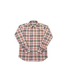 Standard Fit Summer Madras Red/Yellow/White/Navy