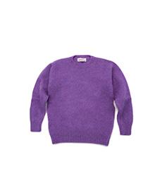 Shaggy Dog Crew Neck Sweater New Amethyst