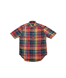 Archive Cotton Madras S/S Popover Red/Yellow