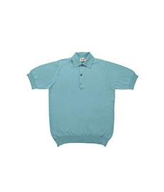 Cotton Pullover Sportshirt S/S Aqua