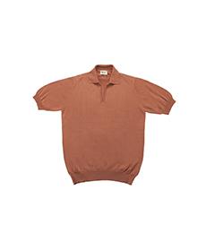 Cotton Sweater Skipper Neck S/S Nut