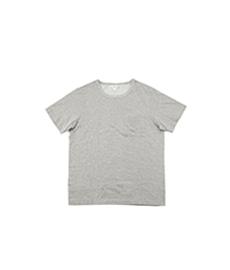 215P Classic Crew Neck Pocket T-Shirt Grey Melange