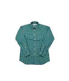 Standard Fit Butcher Stripe Green