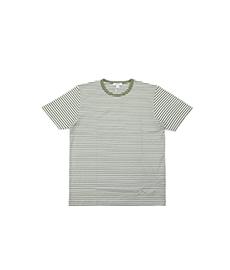 Short Sleeve T-Shirt Light Khaki/White English Stripe