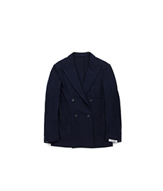 4 Button Double Jacket Navy