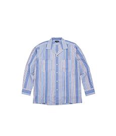 Abshinth Shirt Bar.2.0 Blue Stripe Pintack