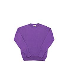 Cotton Pullover Crew Neck L/S Purple