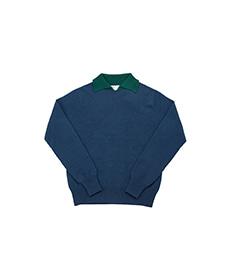 Dylan Cashmere Mix Polo Shirt Skipper/Alloro