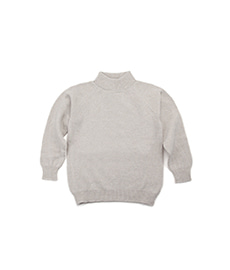 3Ply Geelong Mock Neck Sweater Natural