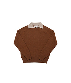 Dylan Cashmere Mix Polo Shirt Rhum/Dune
