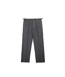 BAC J Double Pleats Mid Grey Flannel