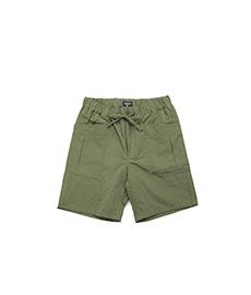 Cargo Shorts Cotton-Linen Slub Canvas Green