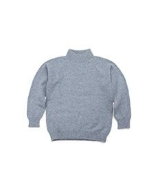 3Ply Geelong Mock Neck Sweater Light Blue