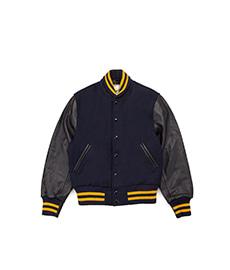 Contemporary Fit Varsity Shawl Collar Navy/Navy