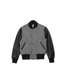 Contemporary Fit Varsity Shawl Collar Grey/Black