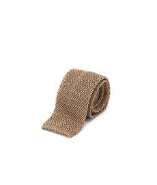 Knit Tie Taupe