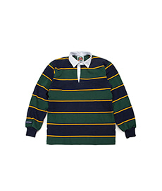 Classic Rugby Jersey Navy/Gold/Bottle