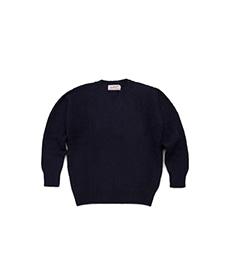 Shaggy Dog Crew Neck Sweater New Navy