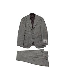 Single Suit Grey Glen Check Flannel
