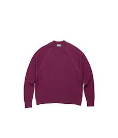 Plume Textured Sweater L/S Plum