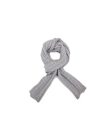 Cable Knit Cashmere Scarf Grey