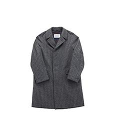Corb Tweed Jersey Chevron Gray