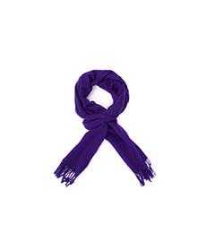 Plain Classic Cashmere Scarf Bright Purple