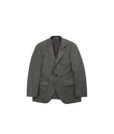 60s Sports Coat Fox Solid Flannel Grey