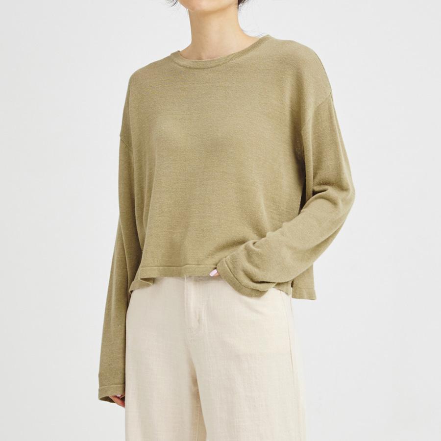 Round crop knit