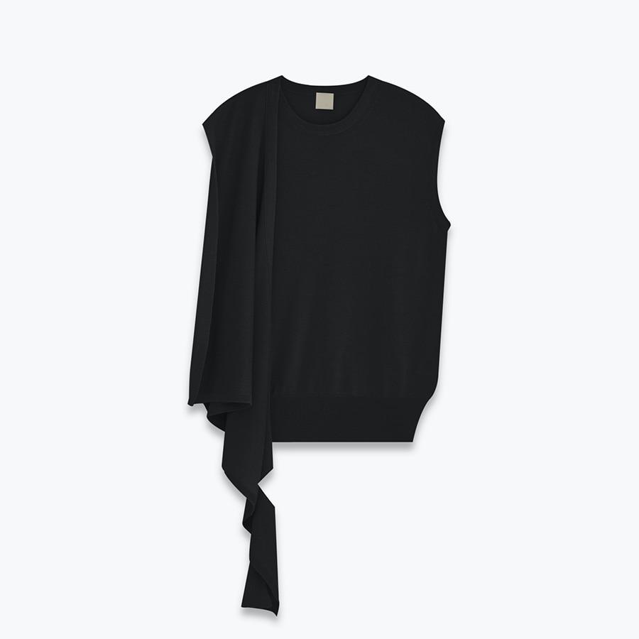 Unbalance round knit - 레디투웨어