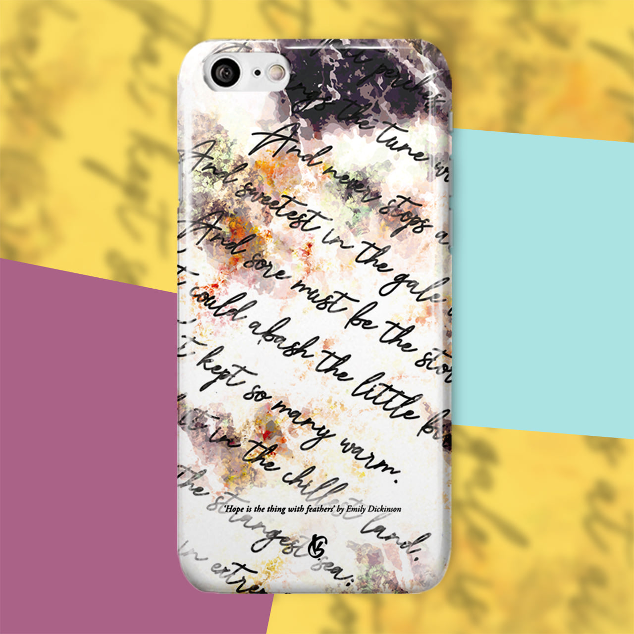 No.9 'Hope is the thing with feathers' by Emily Dickison (Letters Covered Ver.)