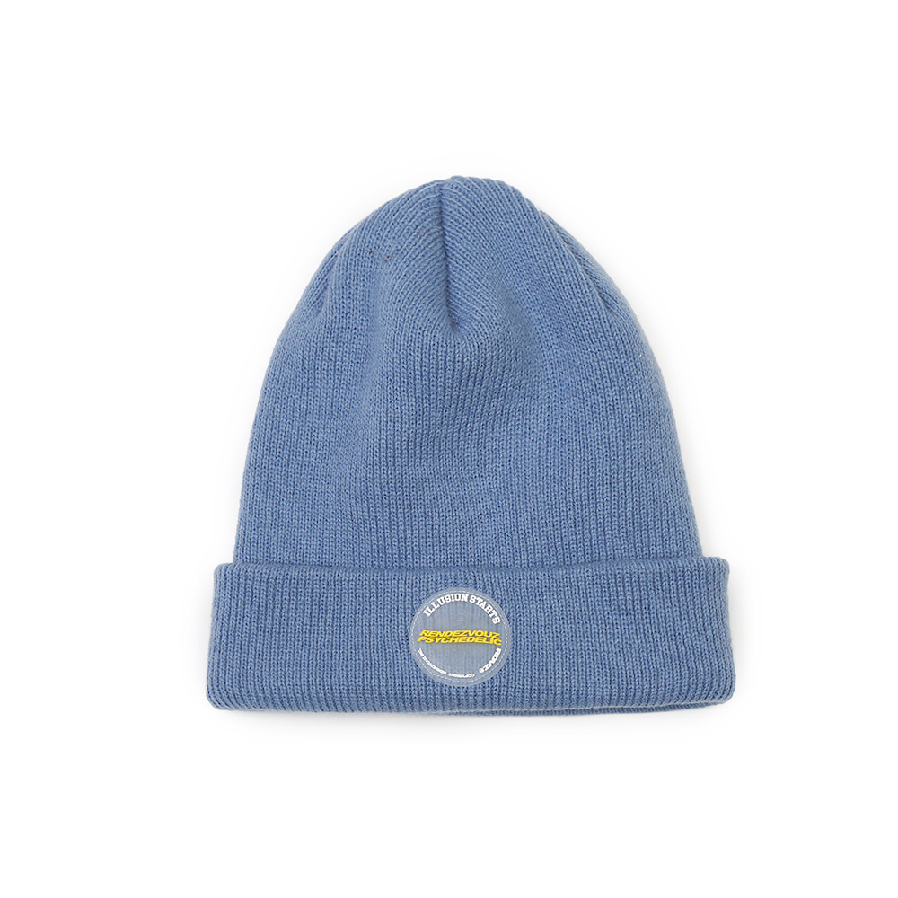 랑데부 CIRCLE LABEL BEANIE SKYBLUE
