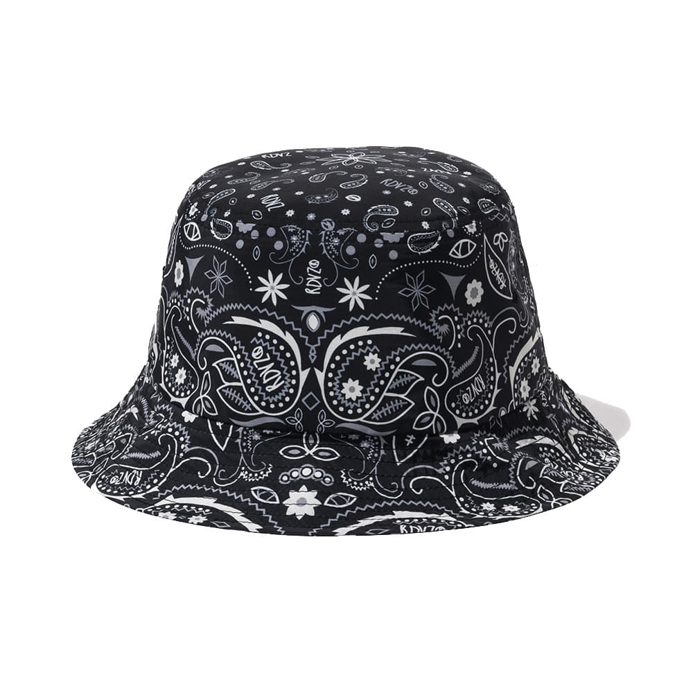 랑데부 PAISLEY BUCKET HAT BLACK