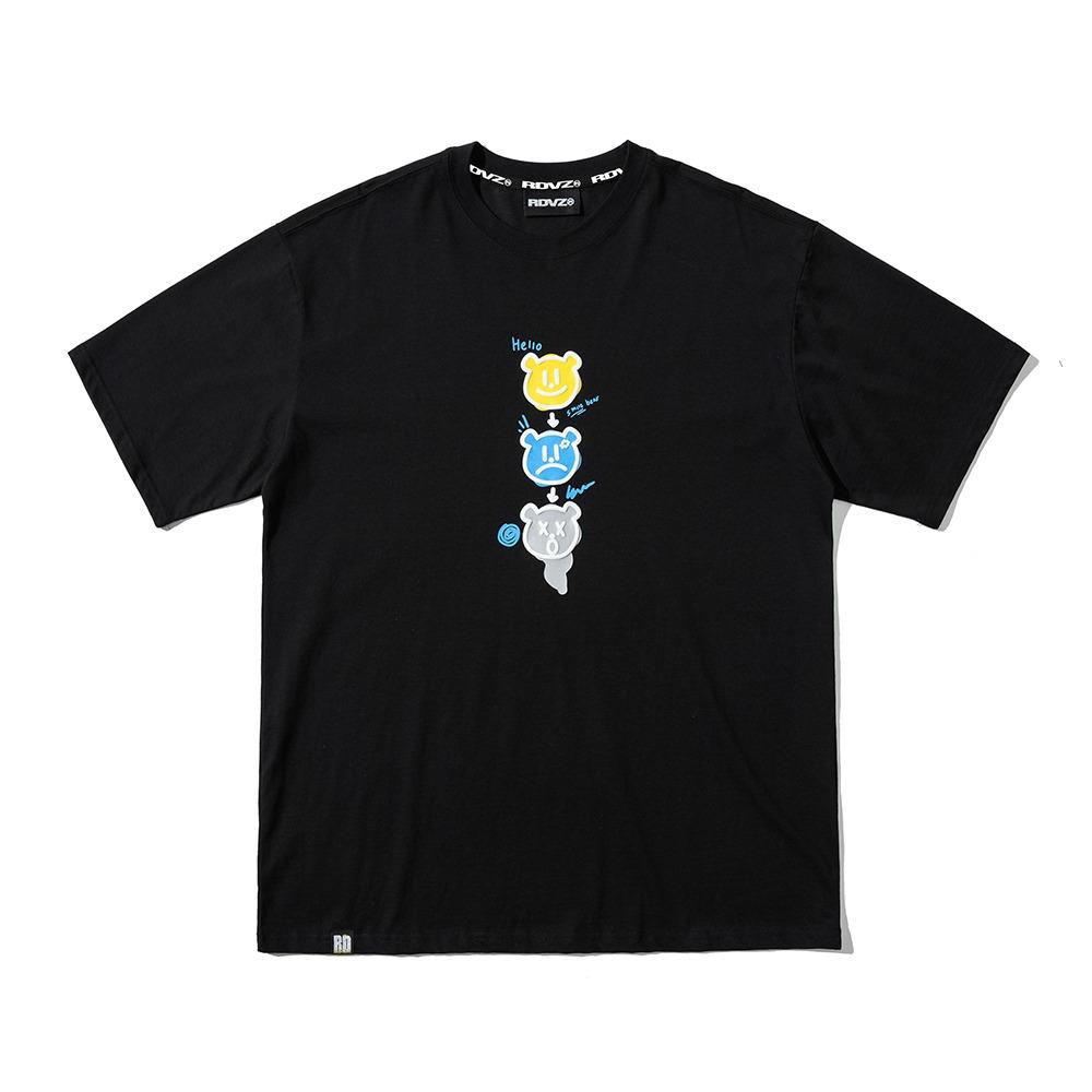 랑데부 트리플 앵그리 티셔츠 블랙