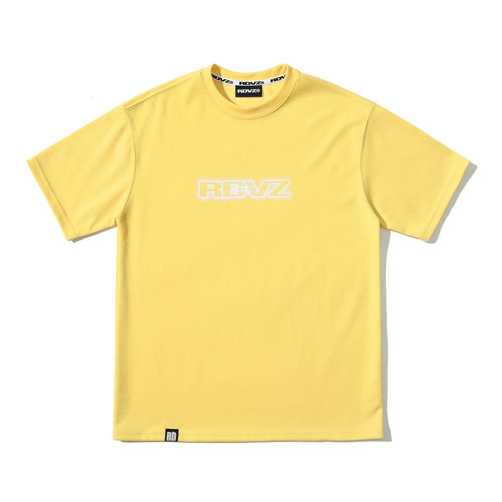 랑데부 네온 로고 티셔츠 옐로우
