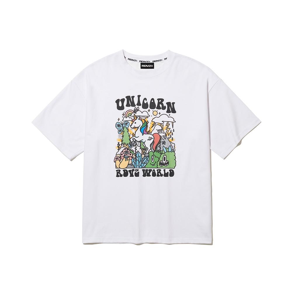 랑데부 [10월 22일 순차발송]일루전 유니콘 티셔츠 화이트