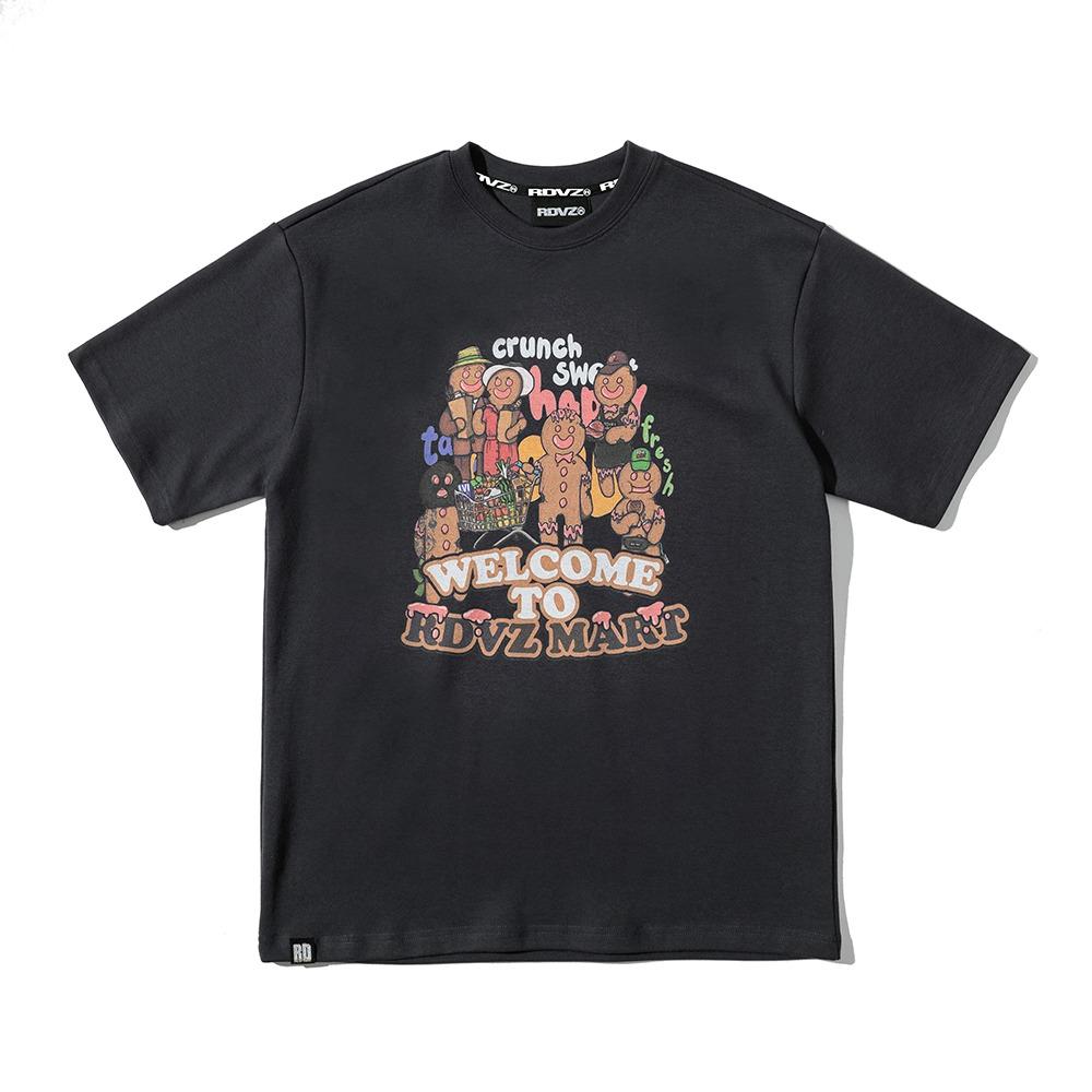 랑데부 차일즈 두들 티셔츠 챠콜