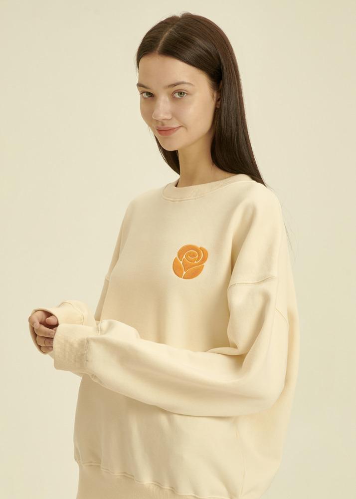 Essential Rose Sweatshirt [CREAM]Essential Rose Sweatshirt [CREAM]자체브랜드