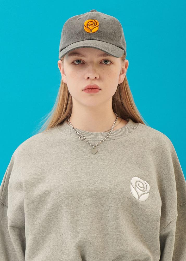 Rose ball cap [CHARCOAL]Rose ball cap [CHARCOAL]로씨로씨