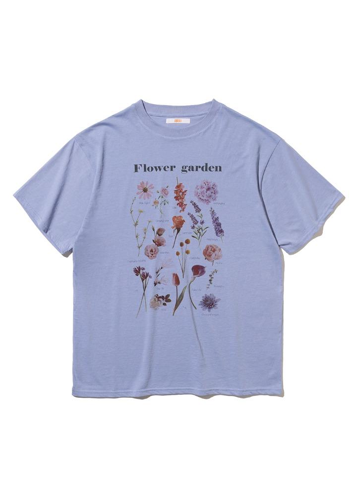 Flower Garden T-shirt [PALE BLUE]Flower Garden T-shirt [PALE BLUE]자체브랜드