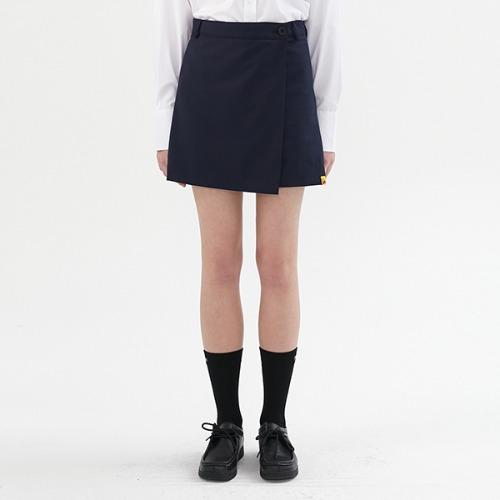 [KIRSH X RMTCRW]WRAP SKIRT PANTS_NAVY
