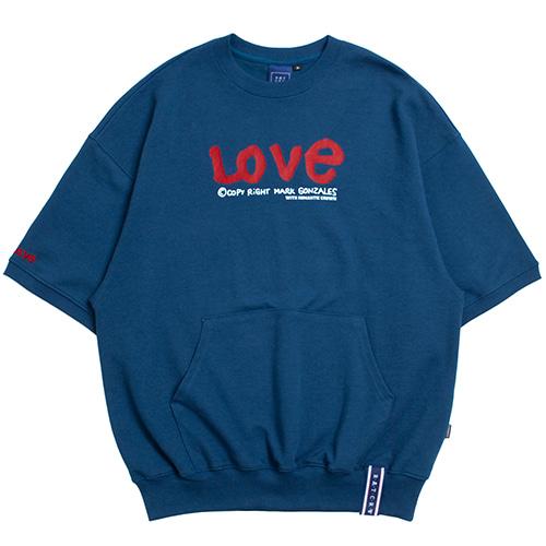 [R.C X M.G]WITH LOVE Pocket T Shirts_Blue