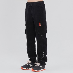 CORDUROY POCKET PANTS_BLACK