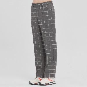 FRIDAY CHECK DRESS PANTS_GREY
