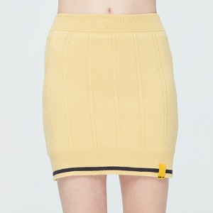 CABLE KNIT SKIRT_BUTTER