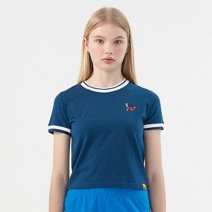 [KIRSH X RMTCRW]GNAC CHERRY RINGER TEE_BLUE